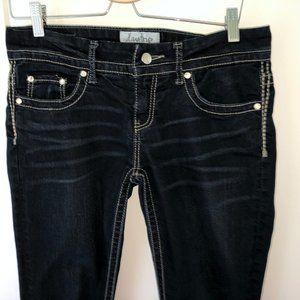 daytrip Lynx skinny crop jeans sz 29 EUC dark blue